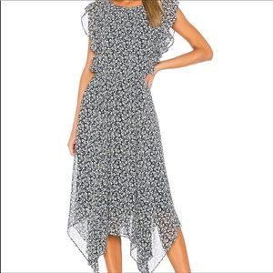 1.State Plus Size Cascading Ruffled Flounce Dress